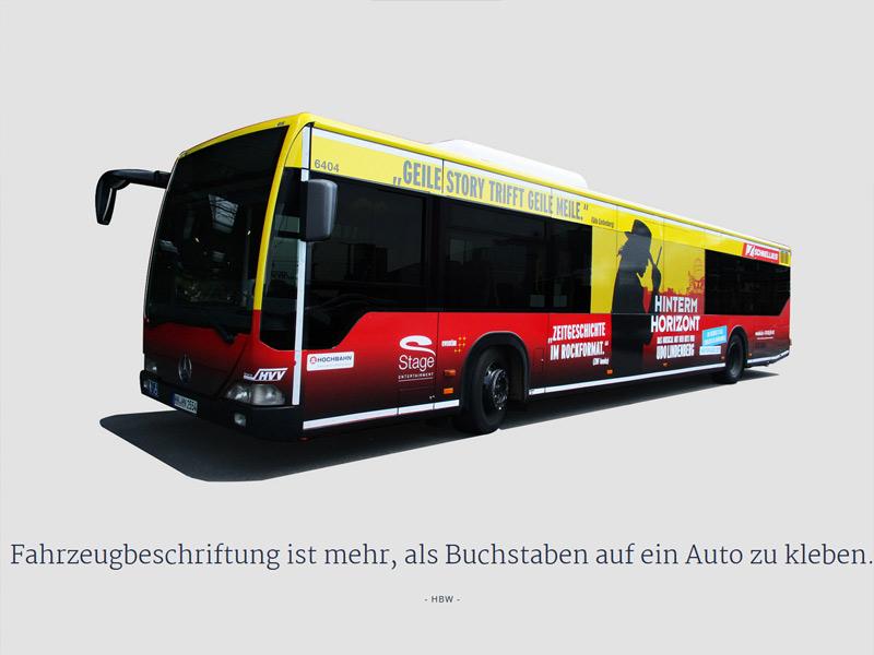 Hamburger Buswerbung